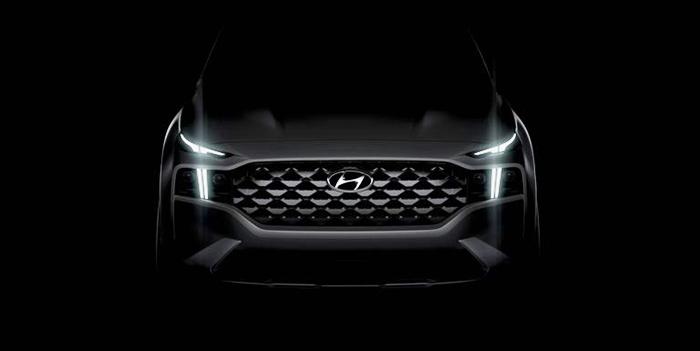El crossover mediano de Hyundai, el Santa Fe, tendrá un nuevo aspecto para 2021